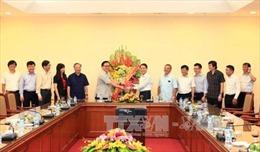 Bí thư Thành ủy Hà Nội thăm, chúc mừng Thông tấn xã Việt Nam nhân dịp 21/6