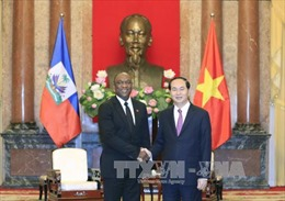 Chủ tịch nước Trần Đại Quang tiếp Chủ tịch Thượng viện Cộng hòa Haiti