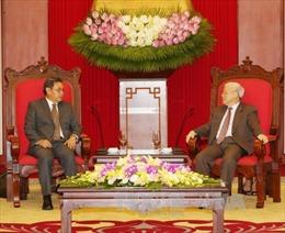 Tổng Bí thư tiếp Đoàn Ủy ban Trung ương Mặt trận Lào Xây dựng đất nước