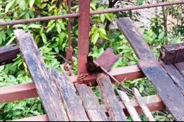 Cao Bằng: Cầu treo xuống cấp, hiểm nguy rình rập mùa mưa lũ
