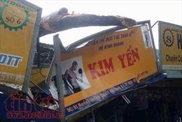 Mưa dông khiến cây đổ, biển quảng cáo sập, xe buýt tông nhau