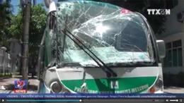 Đà Nẵng: Va chạm giữa xe taxi và xe điện làm 6 người thương vong