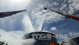 Diễn tập xử lý tình huống cháy lớn tại nhà máy nhiệt điện Phú Mỹ