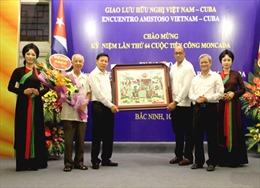 Gặp mặt hữu nghị nhân kỷ niệm lần thứ 64 Cuộc tiến công Moncada tại Bắc Ninh