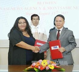 Thông tấn xã Việt Nam ký Thỏa thuận hợp tác mới với Hãng thông tấn Mông Cổ