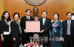 Tiếp nhận ủng hộ các tỉnh phía Bắc bị thiên tai của Đại sứ quán Thái Lan