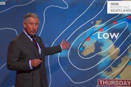 Thái tử Charles dẫn chương trình thời tiết