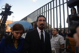 Guatemala nói không với đơn tị nạn của huyền thoại McAfee