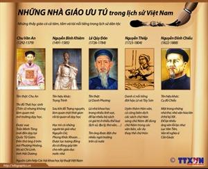 Những nhà giáo ưu tú trong lịch sử Việt Nam