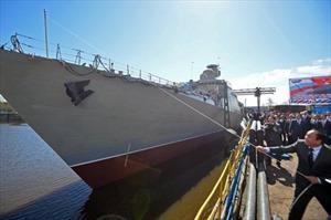 Nga hạ thủy tàu Gepard 3.9 thứ ba cho Hải quân Việt Nam