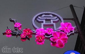 Trang trí phố phường Hà Nội theo từng điểm nhấn
