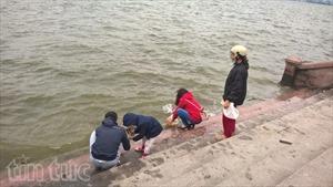 Thả cá chép Tết ông Công, ông Táo cũng cần có ý thức bảo vệ môi trường