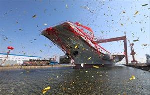 Cận cảnh tàu sân bay đầu tiên do Trung Quốc sản xuất