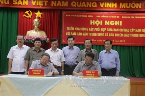 BCĐ Tây Nam bộ phối hợp công tác với Ban Dân vận, Tuyên giáo