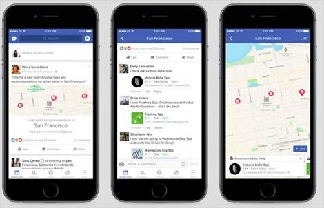Facebook thêm tính năng đặt vé xem phim, gọi món ăn