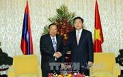 Đồng chí Đinh La Thăng tiếp Tổng Bí thư, Chủ tịch nước Lào