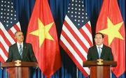 Chủ tịch nước Trần Đại Quang và Tổng thống Obama họp báo quốc tế