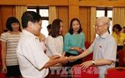 Tổng Bí thư tiếp xúc cử tri Hà Nội ở các quận Ba Đình, Hoàn Kiếm