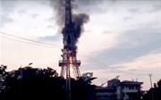 Cháy tháp truyền hình Tuyên Quang