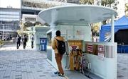 Gửi xe đạp xuống bãi ngầm trong 8 giây ở Nhật Bản