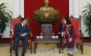 Đồng chí Trương Thị Mai tiếp Đoàn đại biểu Campuchia