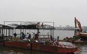 Tiếp tục phá dỡ công trình vi phạm tại khu vực nhà nổi, du thuyền Hồ Tây
