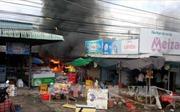Hậu Giang: Cháy chợ xã Vị Thắng, 9 ki-ốt bị thiêu rụi