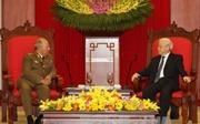 Tổng Bí thư tiếp Bộ trưởng Bộ các lực lượng vũ trang cách mạng Cuba