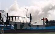 Cháy bình ga trên tàu, 3 ngư dân được cứu kịp thời