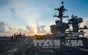 USS Carl Vinson bắt đầu tập trận với tàu khu trục Nhật Bản