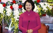Phó Chủ tịch nước Đặng Thị Ngọc Thịnh trao tặng nhà cho gia đình liệt sĩ