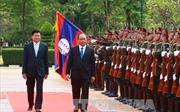 Lễ đón trọng thể Thủ tướng Nguyễn Xuân Phúc tại thủ đô Viêng Chăn, Lào