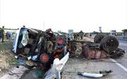 Ninh Thuận: Xe khách giường nằm đâm nát xe máy cày, 1 người chết tại chỗ