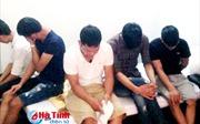 Hà Tĩnh: Bắt 5 thanh niên phê thuốc lắc tại khách sạn ở Thiên Cầm