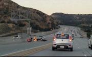 Xe mất lái đâm điên loạn trên cao tốc