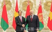 Tổng thống Belarus đón, hội đàm với Chủ tịch nước Trần Đại Quang