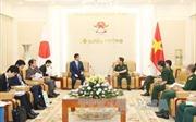 Đại tướng Ngô Xuân Lịch tiếp Cố vấn đặc biệt của Thủ tướng Nhật