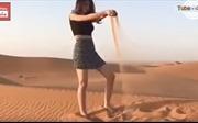 Saudi Arabia: Cô gái mặc váy ngắn thả dáng gây ra tranh luận nảy lửa