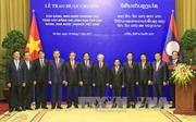 Đảng, Nhà nước Lào trao tặng phần thưởng cao quý cho lãnh đạo cấp cao Việt Nam