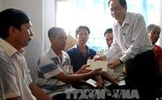 Chủ tịch MTTQ Việt Nam thăm các gia đình người có công tại Nghệ An