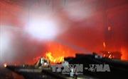 Dập tắt vụ cháy xưởng gỗ ở thành phố Vinh, Nghệ An
