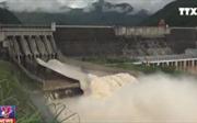 Video mở cửa xả đáy Sơn La và  cửa xả đáy hồ Hoà Bình