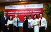 Agribank nhận giải thưởng 'Chất lượng thanh toán Quốc tế xuất sắc năm 2017'