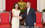 Trưởng ban Kinh tế Trung ương tiếp Đại sứ Canada và Đại sứ Pháp tại Việt Nam