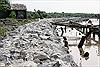 Cửa biển Khánh Hội sạt lở nghiêm trọng