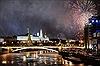 Moskva lộng lẫy đón Năm Mới qua cảnh quay từ UAV