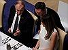 Hình ảnh Tổng thống Putin và Đệ nhất Phu nhân Mỹ thân mật trò chuyện ở tiệc tối