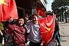 Hà Nội náo nhiệt cờ hoa cổ vũ cho đội tuyển U23 Việt Nam