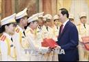 Chủ tịch nước Trần Đại Quang gặp mặt đoàn viên thanh niên Công an nhân dân