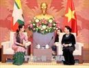 Chủ tịch Quốc hội Nguyễn Thị Kim Ngân tiếp Cố vấn Nhà nước Myanmar